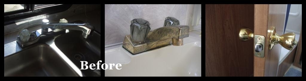 spray paint gold door knobs and faucets