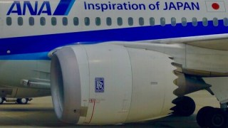 ANA 787 ジェットエンジン