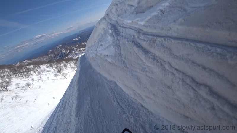 月山スキー場 トラバース大斜面コース