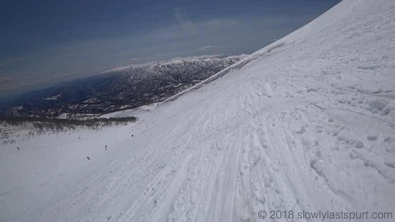 月山スキー場 沢コース