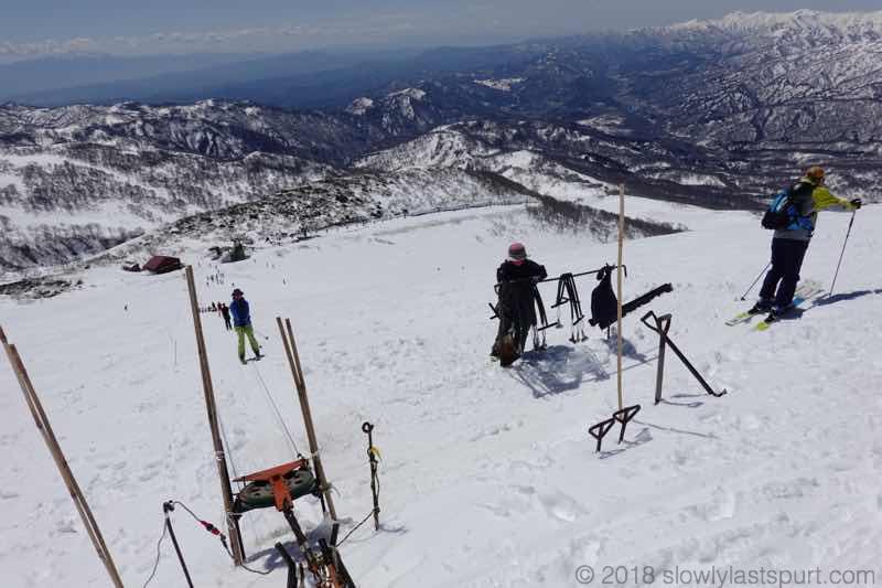 月山スキー場 Tバーリフト山頂