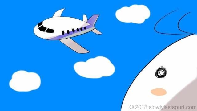 飛行機を眺める