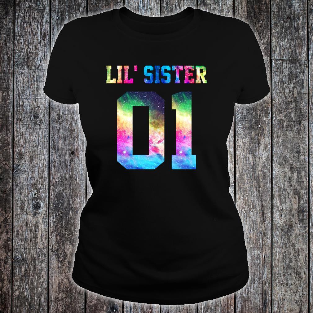 01 big sister 01 mid sister 01 lil' sister for 3 sisters Shirt ladies tee