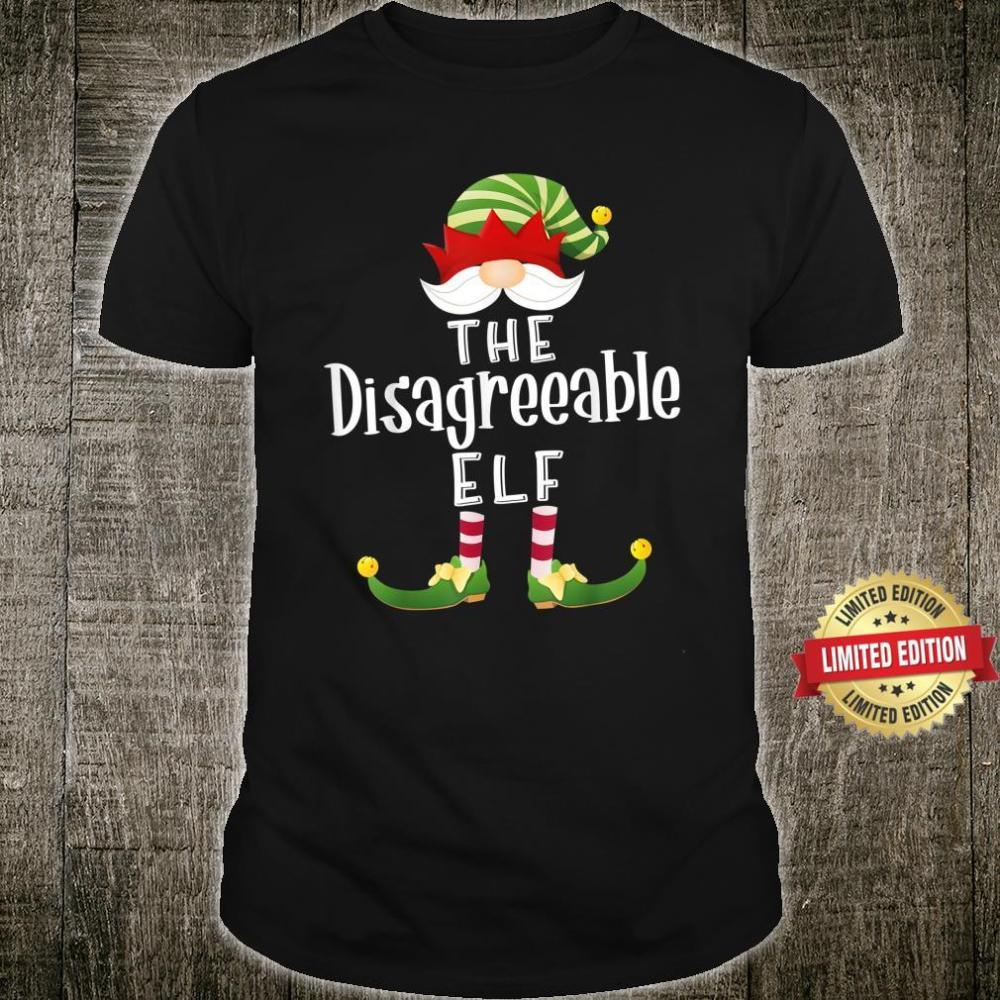 Disagreeable Elf Group Christmas Pajama Party Shirt