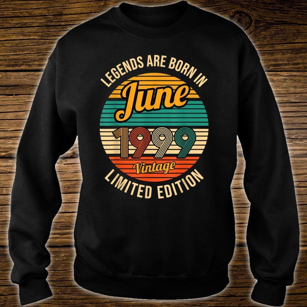 Legends were born in June 1999 22th Birthday Shirt sweater