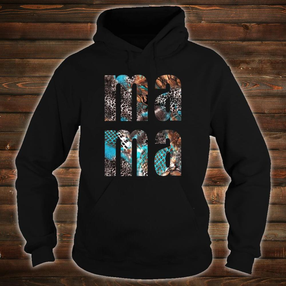 MA MA Snakeskin Letters Printed Mothers Day Shirt hoodie