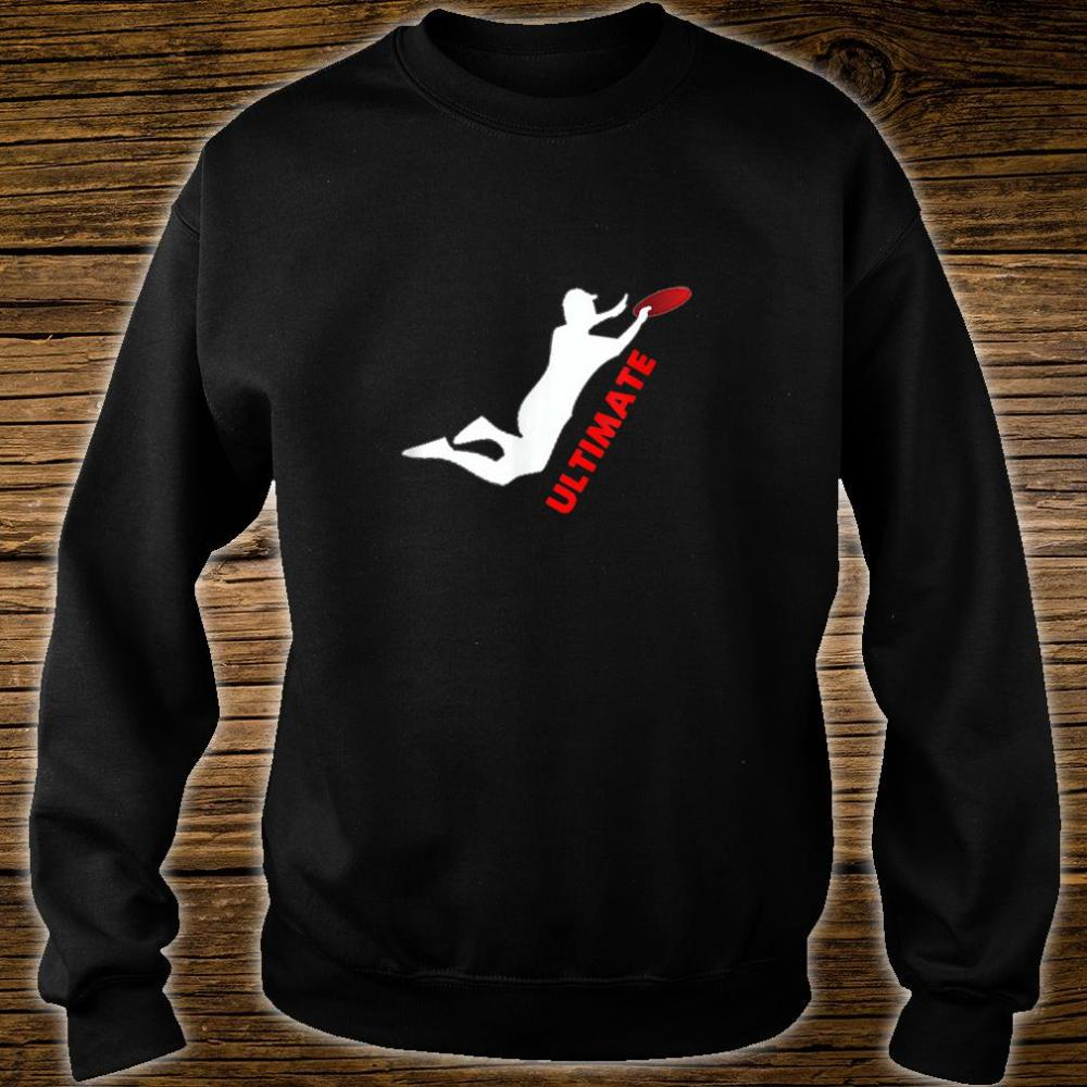 Ultimate Frisbee Silhouette Frisbee Jumping Catch Shirt sweater