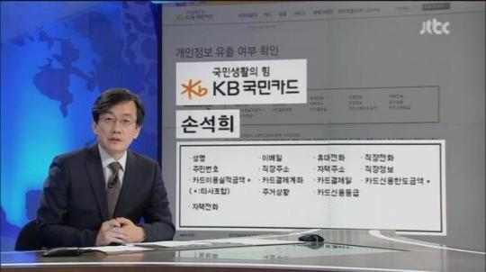 손석희 앵커도 털린 개인정보 (캡처: jTBC 뉴스9)