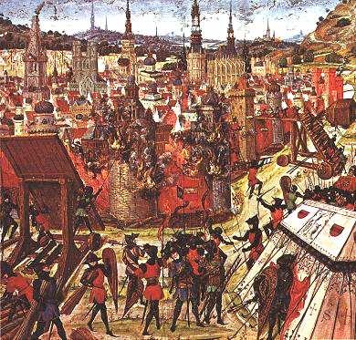 살육과 광기로 넘친 '예루살렘 전투'(1099년) (그림: 작자 미상)