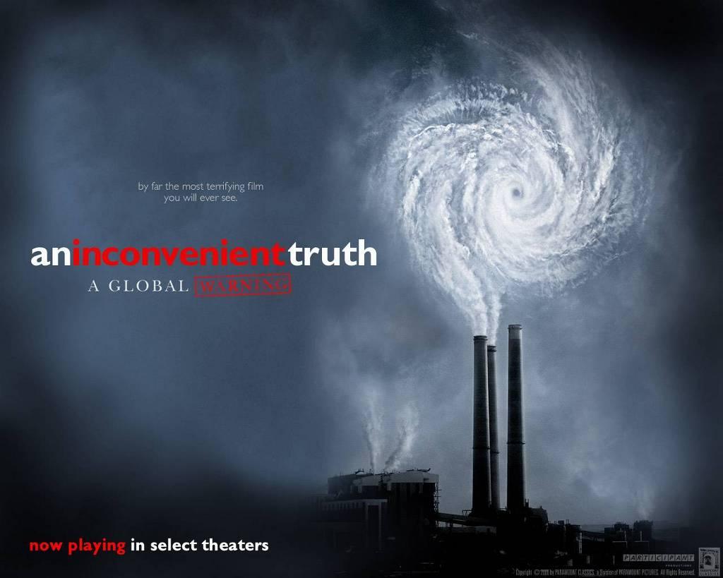 앨 고어의 처신과 지구 온난화 문제는 전혀 상관 관계가 없다. (사진 출처: '불편한 진실' 동영상 포스터)