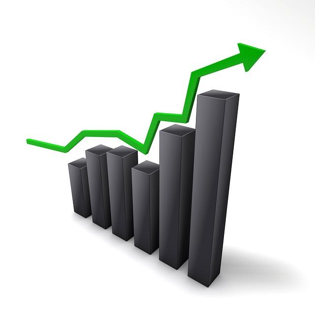 그래프 상승 막대그래프 주가