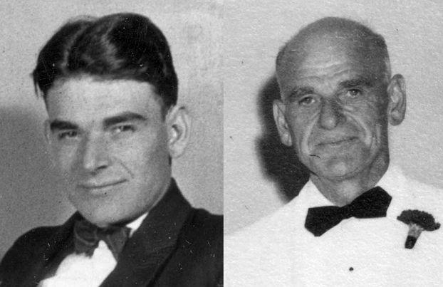 클로드 P. 데틀로프 (1899년~1978), 젊은 시절의 모습과 노년 시절의 모습(출처: http://www.mhs.mb.ca/) http://www.mhs.mb.ca/docs/people/dettloff_cp.shtml