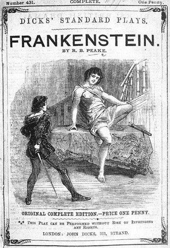 1823년 연극무대에서 공연된 [프랑켄슈타인] 홍보물
