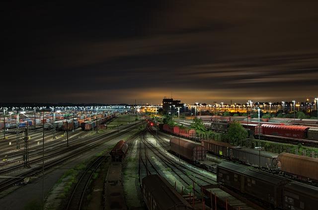 기차 교통 공장