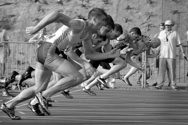 출발선 육상 달리기