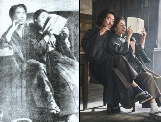 박열과 가네코의 '문제의 사진'을 영화에서 재현한 장면 ⓒ박열문화산업전문유한회사