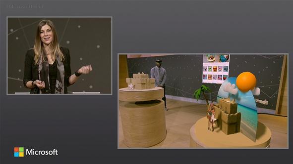 윈도우 10 크리에이터 업데이트로 작업한 3D 콘텐츠를 증강현실에서도 감상할 수 있다.