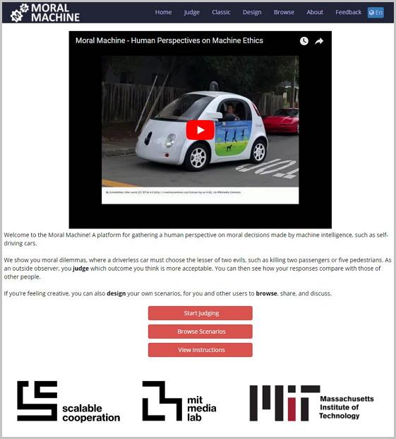 MIT에서 만든 '도덕기계' http://moralmachine.mit.edu/