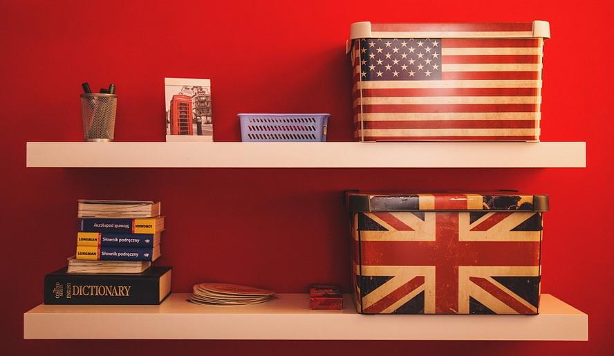 미국 영국 영어 박스