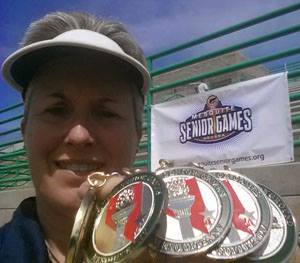 Photo: Bonnie Parrish-Kell wins five medals in track events at 2014 Mesquite Senior Games