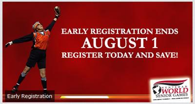 Early Bird Deadline is Aug. 1 for Huntsman World Senior Games