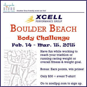 XCELL's Boulder Beach Body Challenge event poster
