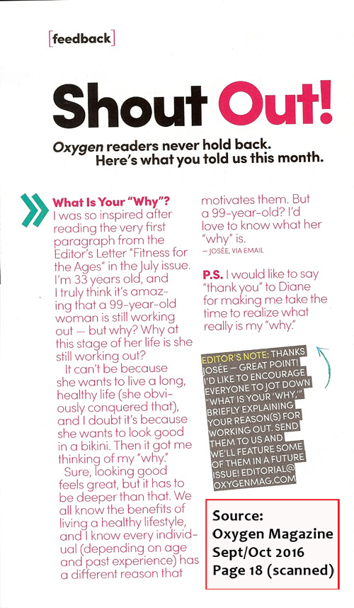 Scanned page 18 from Oxygen Magazine September/October 2016 issue