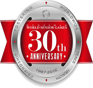 Color 30th anniversary seal for Huntsman World Senior Games