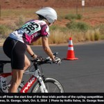 Color photo senior woman on bike Huntsman World Senior Games