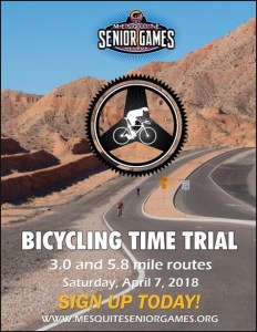 poster for mesquite senior games' cycling time trial