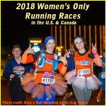 three women running in rock n roll marathon las vegas