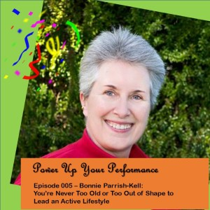 Power Up Your Performance podcast episode graphic featuring Bonnie Parrish-Kell