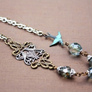 Birds of a Feather - Antiqued Mixed Metals Necklace