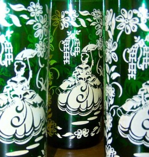 Southern Belle drinking glasses