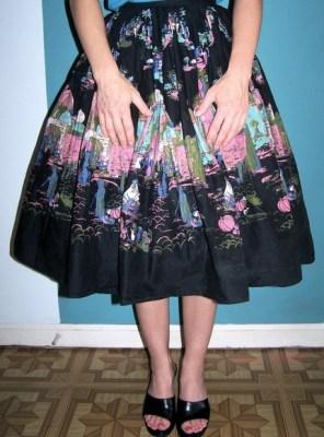 1950s Moroccan circle skirt