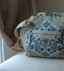 Carpet Bag LEAH Amy Butler Nigella Primrose Pewter