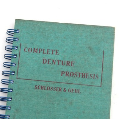 Complete Denture Prosthesis recycled book journal
