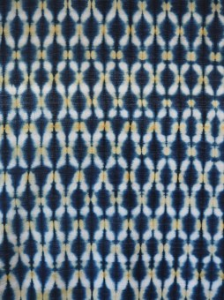 Indigo and myrobalan on handwoven cotton