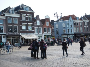 Delft network of walking and cycling only city centre