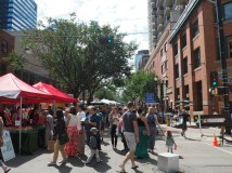 Edmonton's 104 Market on a Human Scaled Street