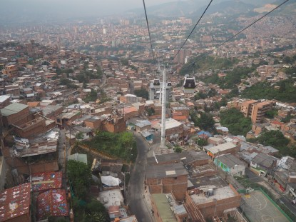 Cost effective gondola serving as a life line for the informal communities in Medellin, Columbia