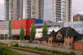 The entire New Westminster Skytrain Station development includes several residential towers (Source: Flickr waferboard)