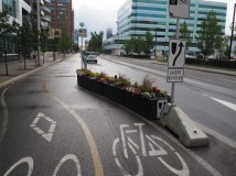 Planter protected intersection on 12th Avenue