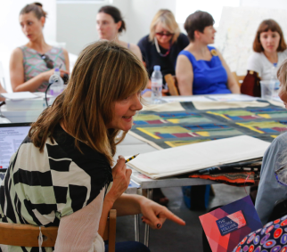Slow Textiles Group geometrics seminar (designed, devised and delivered by Emma Neuberg)