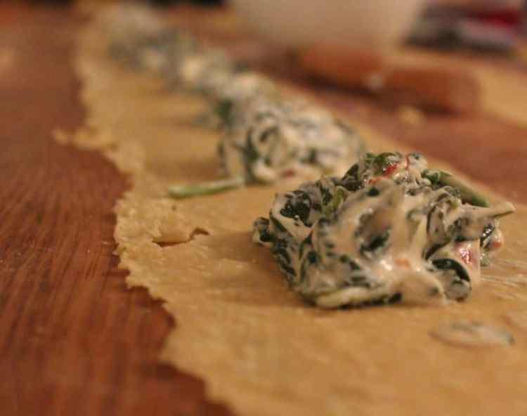 Ricotta & Spinach Ravioli (with a kick)