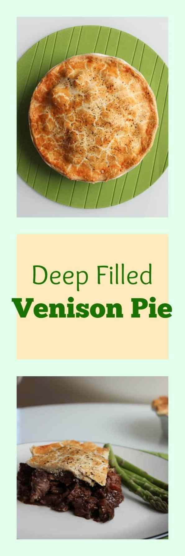 Deep Filled Venison Pie with Cherry