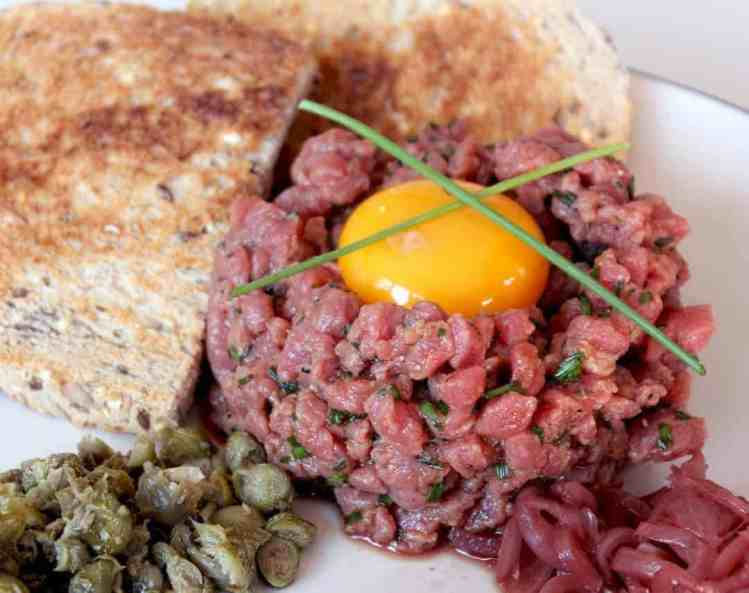 Steak Tartare with Pickled Shallots