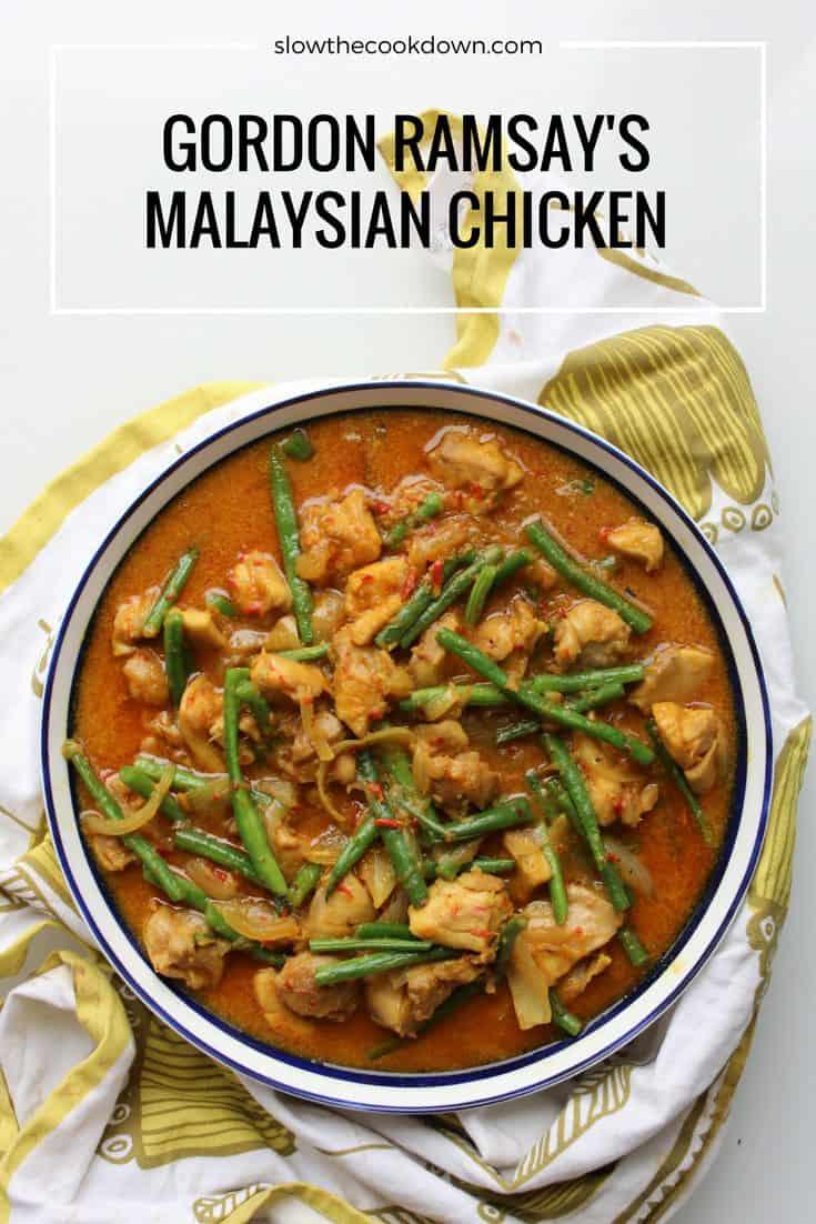 Gordon Ramsay's Malaysian Chicken, a beautiful sweet, hot and creamy curry dish