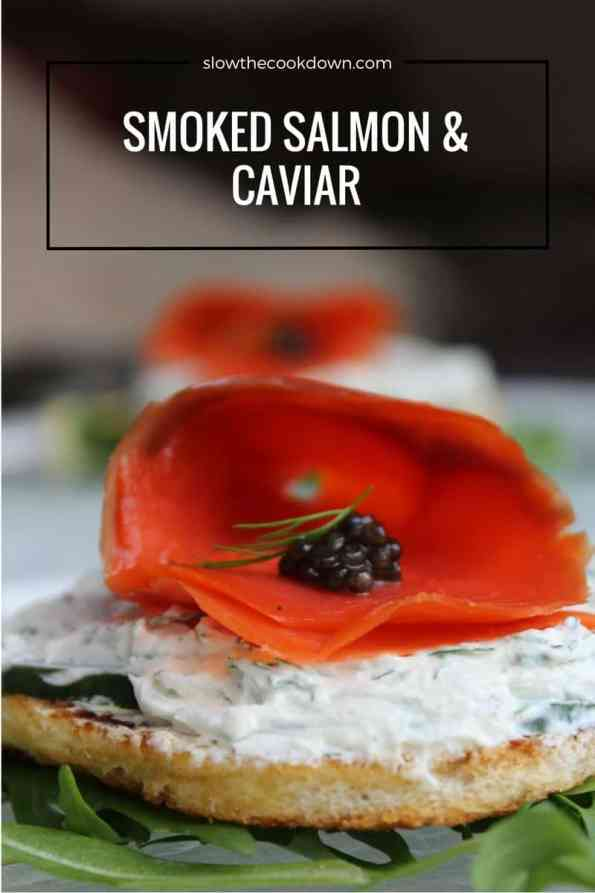Salmon and Caviar Appetiser