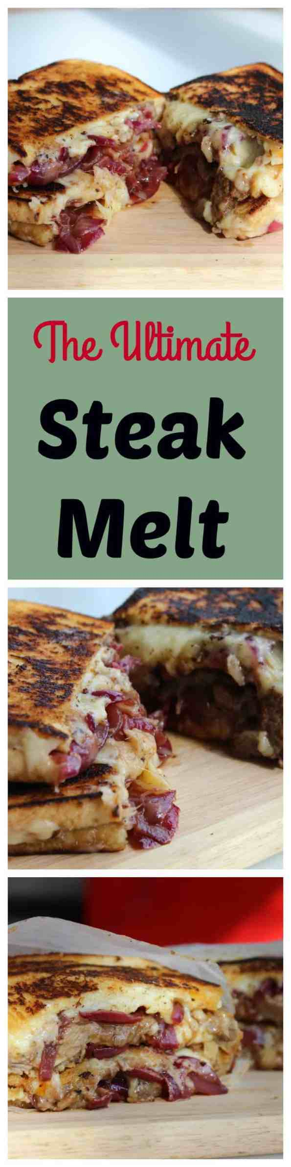 Ultimate Steak Melt, a grilled cheese packed full of flavour
